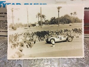 RARE 1930's RPPC Postcard Auto Union Grand Prix Car #10 Hans Stuck On Race Track