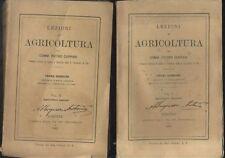 LEZIONI DI AGRICOLTURA 2 volumi AGRICOLTURA GENERALE SPECIALE Cuppari 1882 Paggi