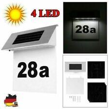 LED Solar Leuchte beleuchtete Hausnummer Licht Edelstahl Leuchtdauer 18.5*5*6cm