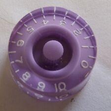 Botón Velocidad Guitarra Velocidad Pomo en morado / Lila con números de blanco