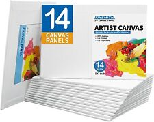 Fixsmith Canvas Panels 14 Pack-100% Cotton Primed Canvases,Artist Canvas Board