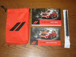 2020 DODGE JOURNEY OWNERS MANUAL OEM with supplemental books, and soft case