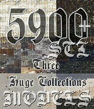 5900+ 3D Models STL CNC Router Artcam Aspire Three Huge Collections Cut3D Vcarve