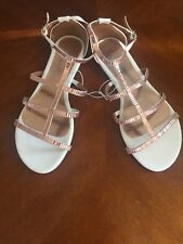 Pavement White/ Rose Gold Straps Sandals Size 42/10  Rrp$55