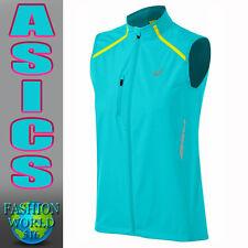 Asics Women's Wind Stopper Running Vest Size Small W110493 Blue