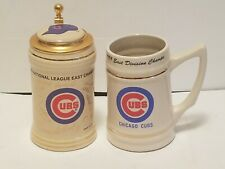 CHICAGO CUBS 1989 NL EAST DIVISION CHAMPIONS STEINS (2)