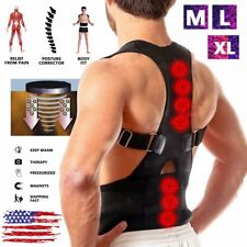 Magnetic Adjustable Back Support Brace Posture Corrector Shoulder Belt Men/Women