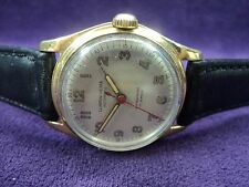 Serviced~1940s~Clinton-Olma Swiss~17J Bumper-Auto~Gold Plate Military Watch