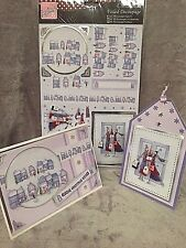 (03)HALLMARK~A4 DIE CUT~CHRISTMAS~WINTER SHOPPING~FOILED DECOUPAGE SHEET~CARDS~