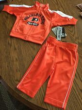 Philadelphia Flyers NHL Hockey 2 Piece Jacket/Pants Warm-Up Suit 3-6 Month, NWT