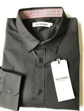 Ben Sherman Black Men Cotton Stretch Poplin Shirt Slim Fit L/S Size: XL