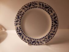 Italian Blue Spongeware / Stencilled Plate as sold by 'The Pier' 21.5cm