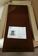 BRAND NEW BROWN TOUGHENED GLASS SPLASHBACK 17.25IN X 39.25IN RRP £99.99 FREE P&P