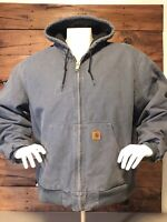 Carhartt Men's Jacket Size 2 XL Reg.Heavy Duty Steel Blue. Awesome Color