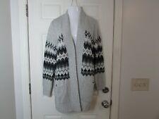 NWT Sonoma Life + Style Oversized Knit Cardigan Sweater Size L Pockets  Grays