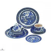 Churchill China Blue Willow 20 Pcs Dinner Set Eating Dinnerware Kitchen Home New