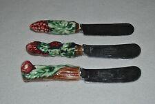 New listing Vintage Good Friend Portugal Cheese Knife Spreader Enamel Handles Lot of Three