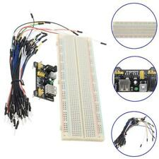 MB-102 830 Point Solderless Breadboard PCB+Power Supply+65pcs Jump Cable Wire BP