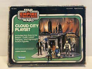 K1996283 CLOUD CITY PLAYSET W/ BOX & FIGURES 1981 STAR WARS EMPIRE ESB VINTAGE
