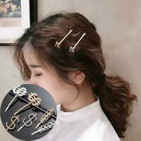 Frauen Mode Buchstaben Glitter Strass Haarspangen Pin Schmuck Multi-Color