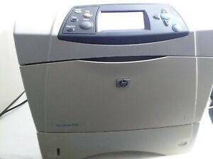 HP LaserJet 4250 Workgroup Laser Printer with used original toner free shipping