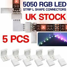 5 X 5050 RGB LED Strip Light Corner Connectors L Shape Adapters 90 Degree Joint