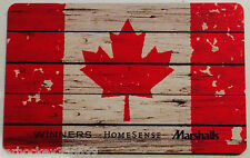 Marshalls / Winners CANADIAN FLAG collectible gilft card (NCV) French/Englis