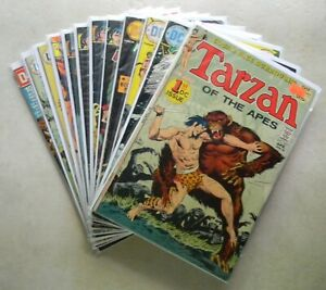 Tarzan #207[#1], 227-229, 238, 241-255 $90.00 LOT of 12 (1972) + DC 100 PAGE #19