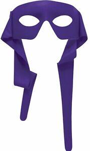 Purple Superhero Mask Adult Mardi Gras Unisex Venetian Eye Mask