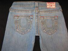 True Religion Womens Jeans Johnny Big T Straight Leg w Stretch Sz 26