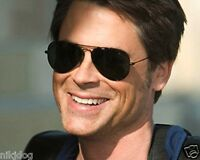 Aviator Sunglasses Black Gold or Silver Frame Dark Smoked Lenses