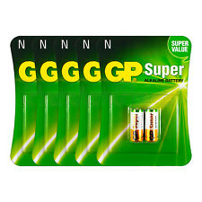 10 x GP Alkaline Super N batteries 1.5V MN9100 E90 AM5 910A 2 in Pack EXP:2019