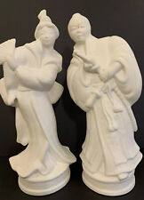 Japanese Male And Female, Ceramic Bisque Figures, Ready to Paint, Craft Art