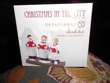 Dept 56 Christmas In The City Accessory Cherub Choir Nib
