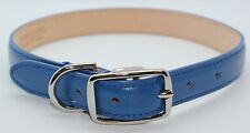 BLUE GENUINE LEATHER EXTRA LARGE DOG COLLAR MADE IN THE USA