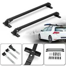 2x Car Top Luggage Carrier Roof Rack Cross Bar Adjustable Window Frame Universal