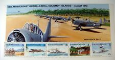 SOLOMON ISLANDS WORLD WAR II STAMPS SHEET 50TH ANNIVERSARY GUADALCANAL WWII