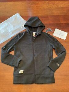 NEW Tracksmith FREYA Hoodie WOOL Hooded COAT Logo Jacket WOMENS Medium SOLD OUT!