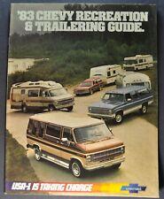 1983 Chevrolet Recreation Towing Brochure Caprice Pickup Truck Blazer Van RV 83