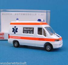 Busch H0 47321 FIAT DUCATO Stadler Ambulanz Bayern RTW KTW OVP HO 1:87 box
