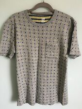 BNWOT Graniph Men's Grey T-shirt With Navy And Yellow Anchors Size S