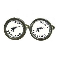 New Zealand Cufflinks KIWI Rugby Cruise Party Wedding Formal Present Gift Box