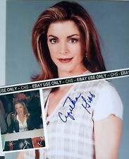 CYNTHIA GIBB NICE SIGNED COLOR 8x10 + CANDID SIGNING PHOTO FAME YOUNGBLOOD