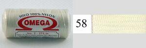 Omega Hilo 100% Nylon Crochet Thread Yarn Size No. 2 - Nylon Thread Colors 58-67