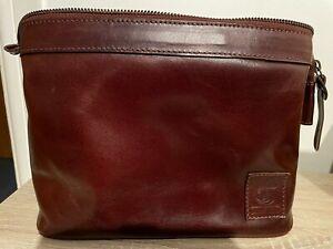 Wash Bag Travel Toiletries Men Vintage style Genuine Buffalo Distressed Leather