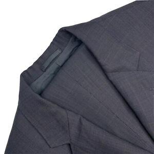 Custom 40 S Dormeiul Royal Optima Super 120's Grey Glen Plaid Wool Suit