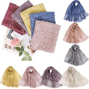 Soft Women Long Scarf Muslim Hijab Shawl Wrap Stole Scarves Islamic Headwear