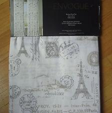 "Envogue PARIS GRAY Ivory *2 WINDOW PANELS CURTAIN 50x96"" EIFFEL TOWER Rod COTTON"