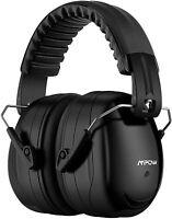 Mpow Gehörschutz Kapselgehörschutz NRR 28dB / SNR 34dB gepolstert schwarz