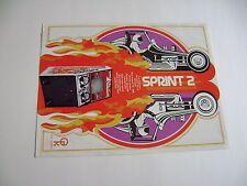 1976 Atari Kee Games Sprint 2 Arcade Game Original sales flyer brochure